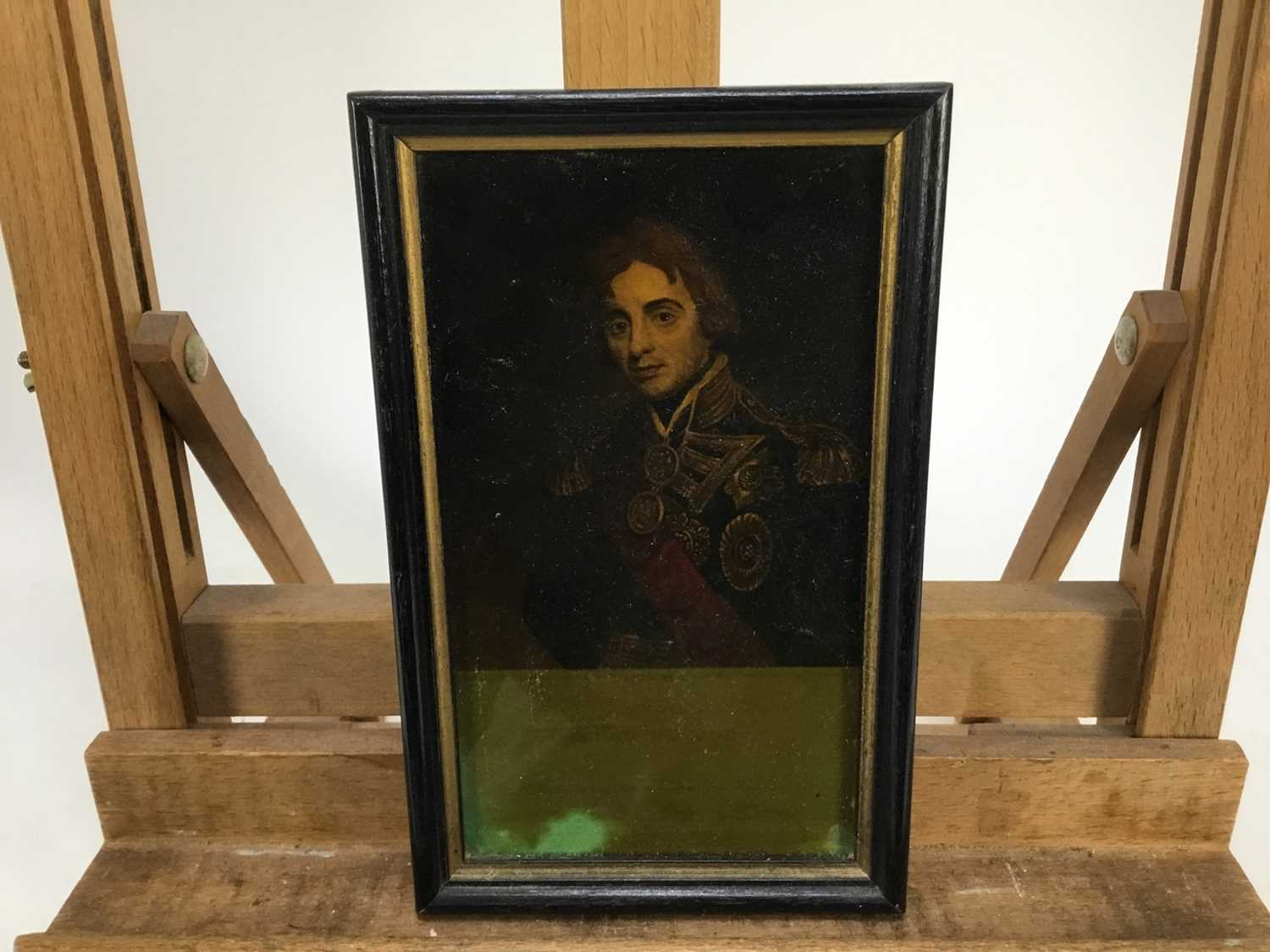 Jenny Simpson (1931-2020), Georgian-style glass pictures, framed and glazed - seven portraits - Image 7 of 10