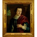 Attributed to Tilly Kettle (1735-1786) oil on canvas - portrait of a Gentleman, in good frame