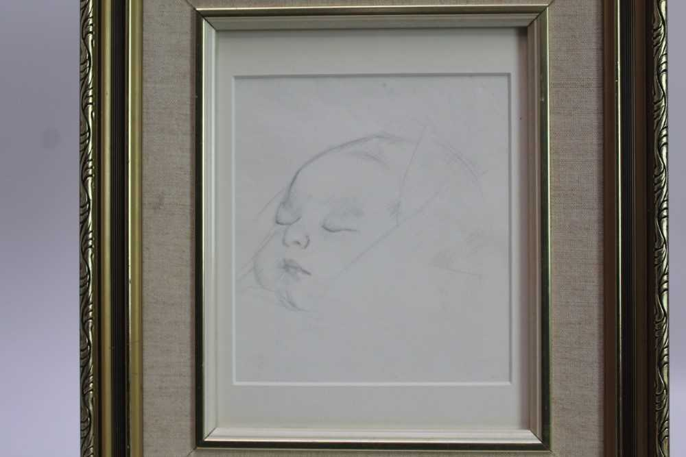 Robert Sargent Austin (1895-1973) pair of pencil drawings - Restful Sleep and Baby Asleep, one dated - Image 7 of 10