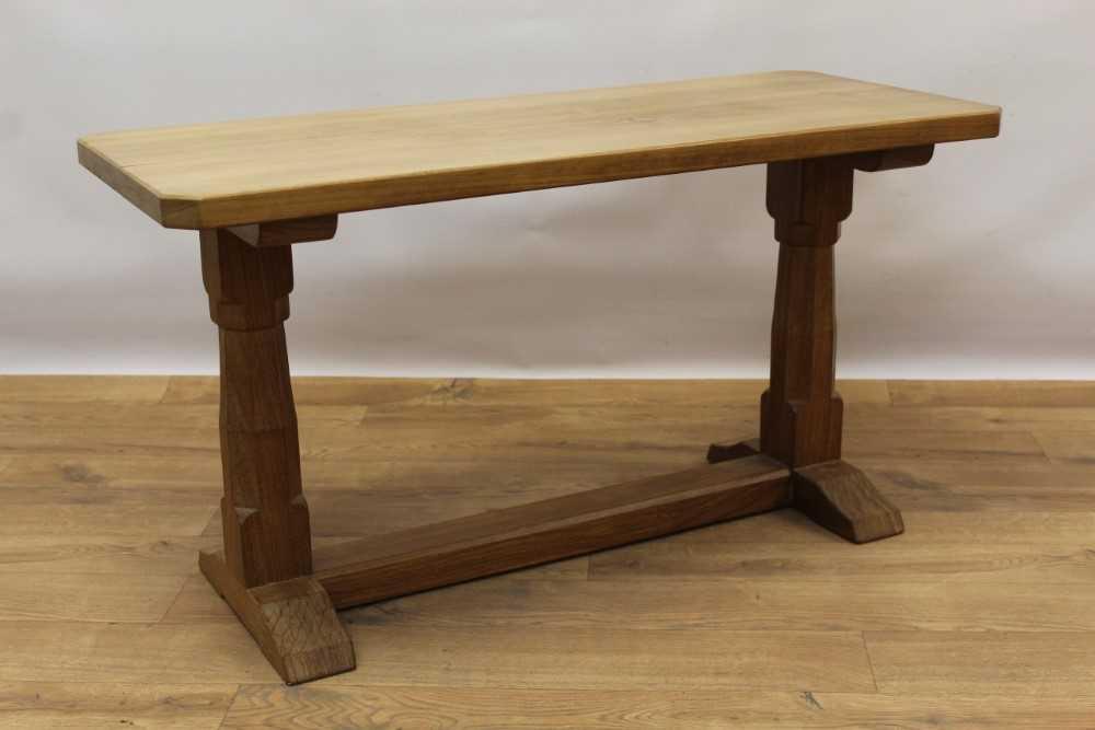 Manner of Robert 'Mouseman' Thompson of Kilburn, hardwood coffee table