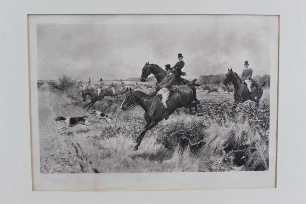 Thomas Blinks (1860-1912) three signed photogravures - Hunting Scenes, 40cm x 57cm, in glazed frames