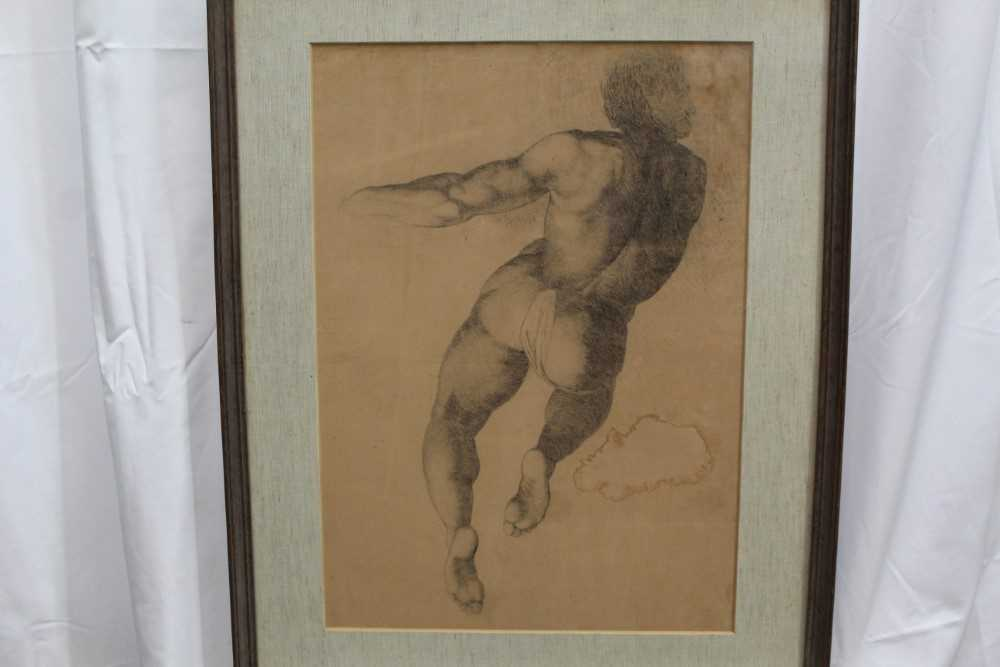 Manner of James Barry (1741-1806) pair of drawings - studies of the Sistine Chapel after Michelangel - Image 6 of 11