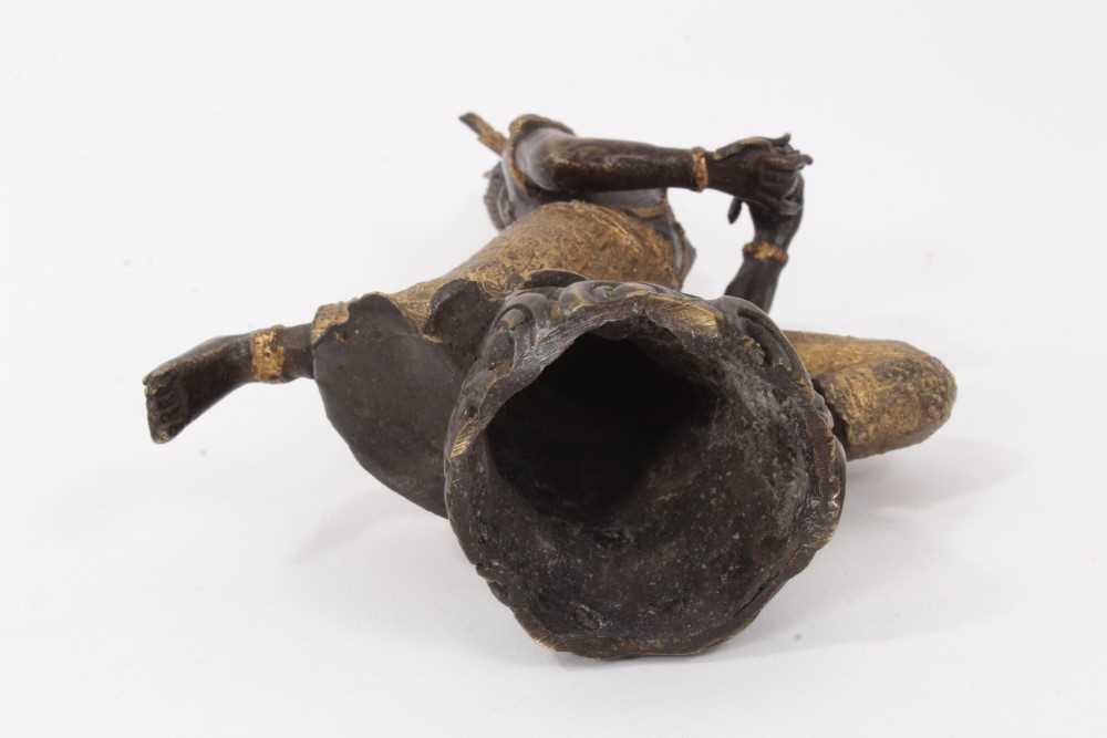 Burmese gilt bronze dancing figure - Image 5 of 5