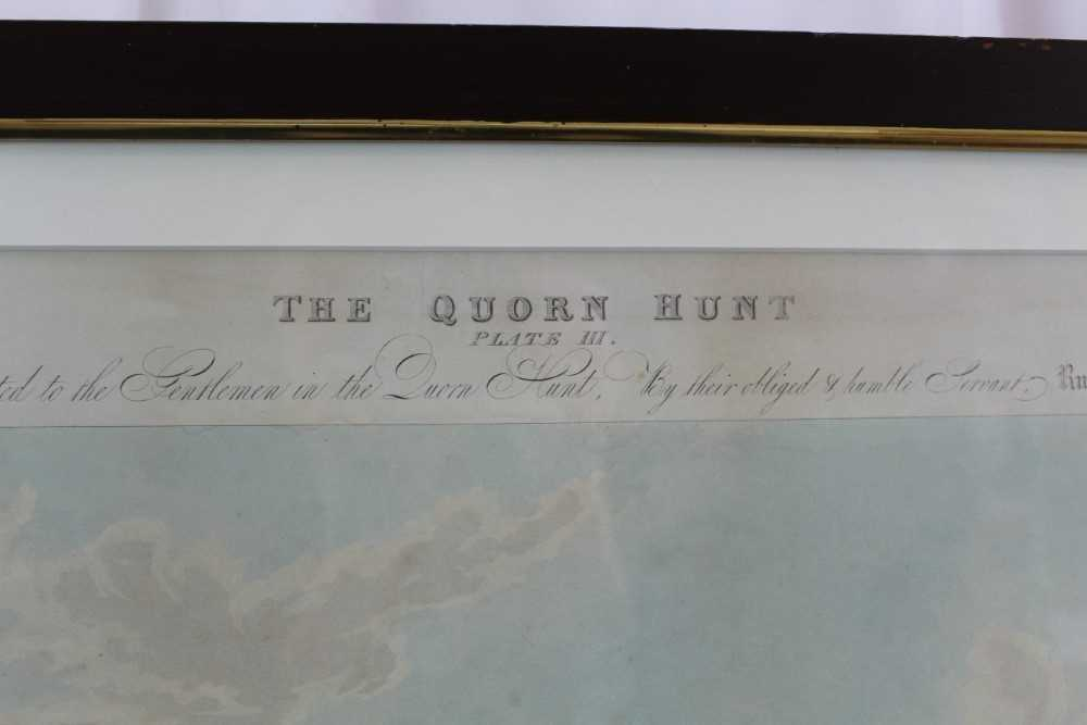 Henry Alken, five hand coloured engravings - The Quorn, in glazed frames - Image 10 of 19