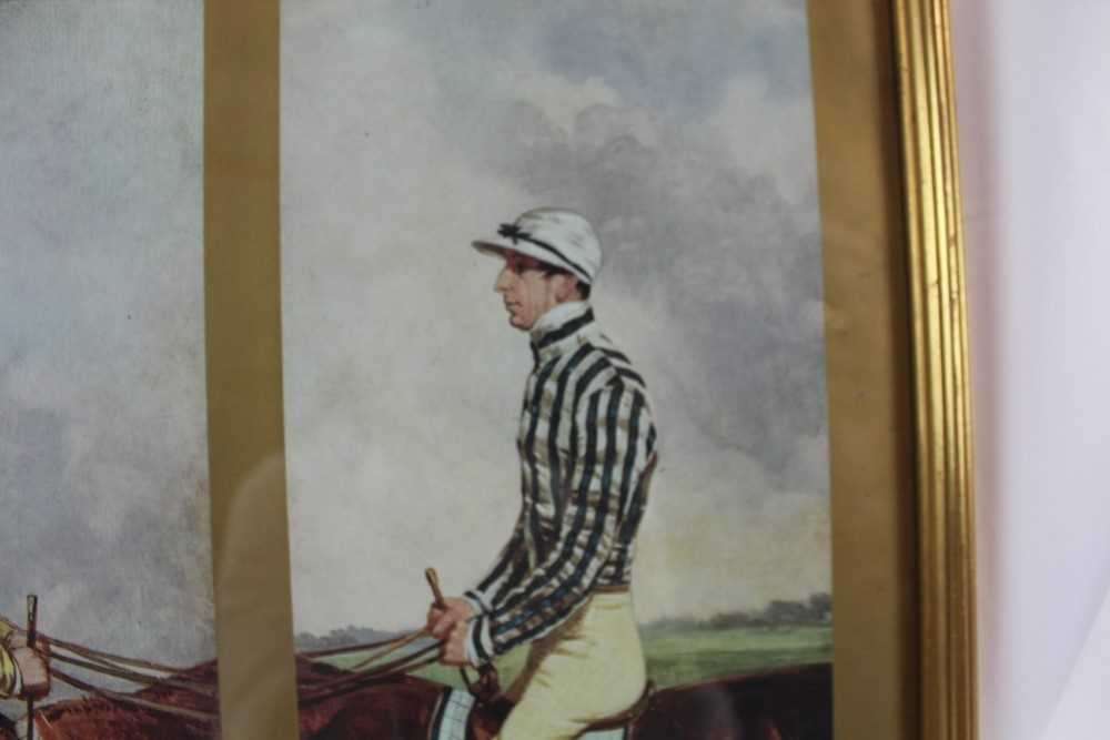 After Harry Hall, pair of coloured prints - Famous Jockeys, published by The Tryon Gallery, 57cm x 4 - Image 9 of 14