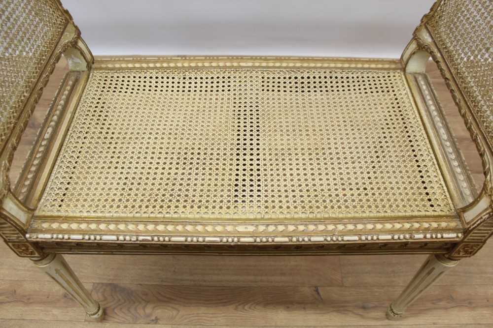 Late 19th / early 20th century French cream painted bergère suite - Image 16 of 16