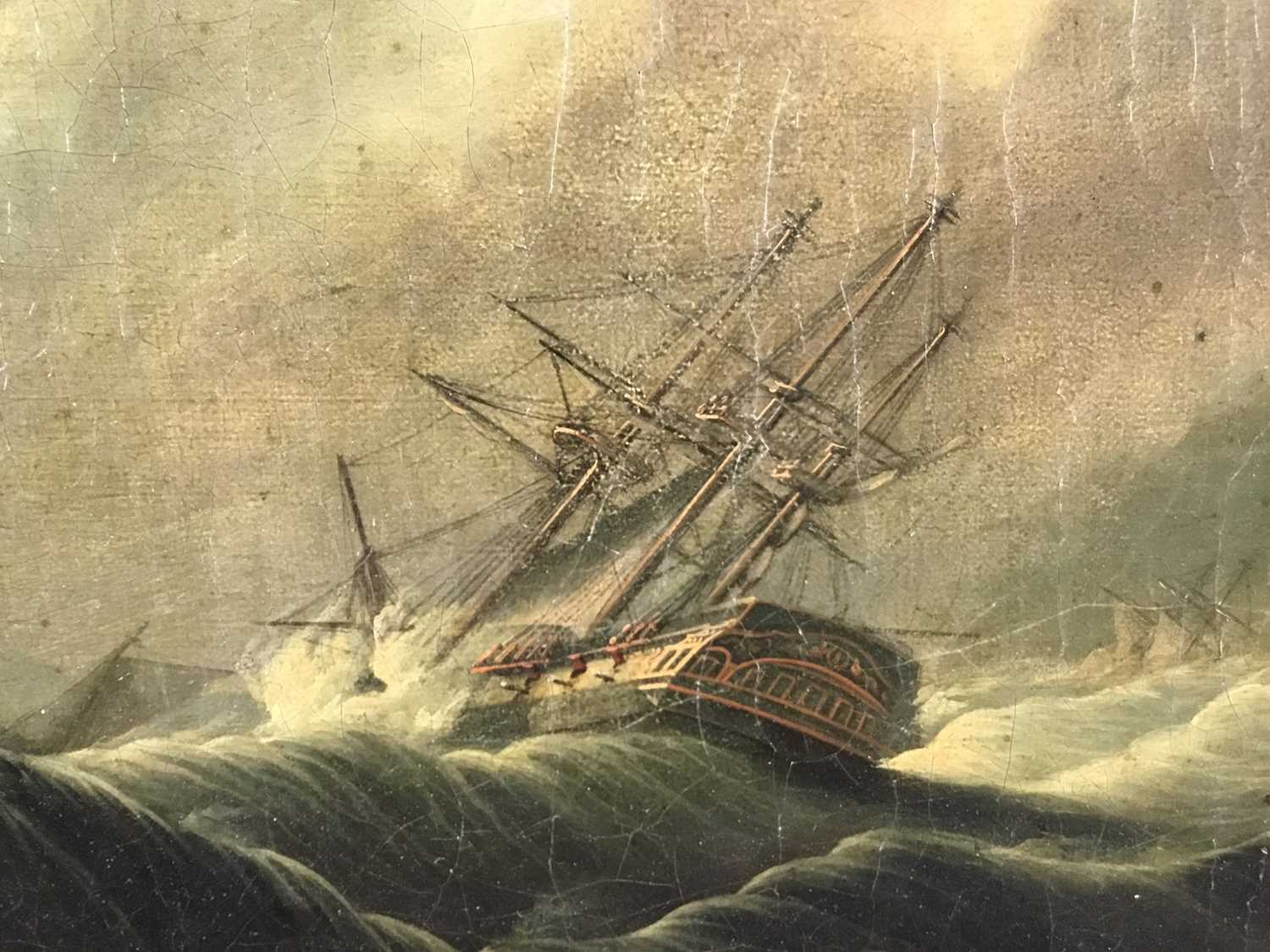 Attributed to Joseph Vernet (1714-1789) oil on canvas - shipping crashing against the rocks, 55cm x - Image 2 of 12