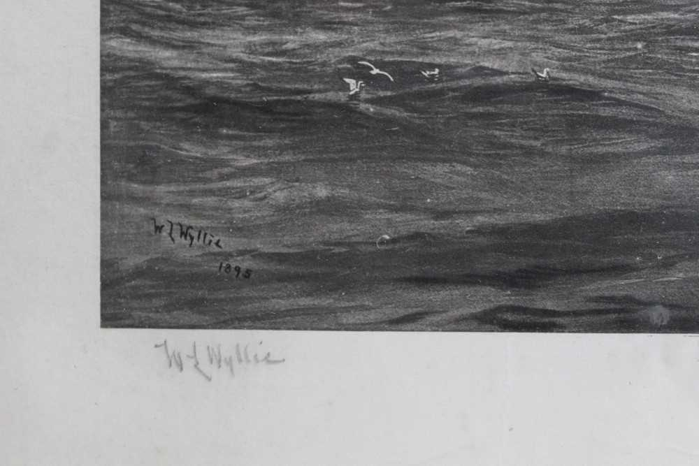 """William Lionel Wyllie (1851-1931) signed black and white engraving - White Star Line """"The Oceanic"""", - Image 3 of 15"""