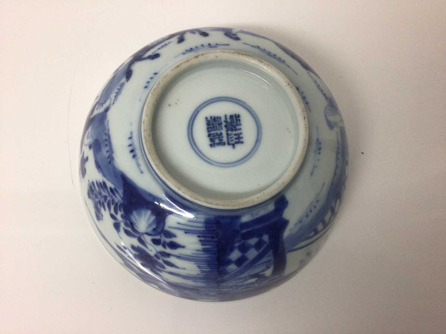 Chinese Kangxi porcelain jug and cover with later silver mount, together with a bowl (2) - Image 4 of 16