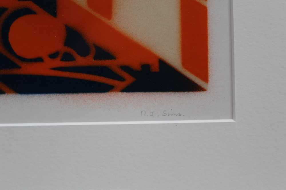Ron Sims (1944-2014) signed limited edition stencil / enamel print - Orange Cat Streamers, 1/50, 20c - Image 3 of 7