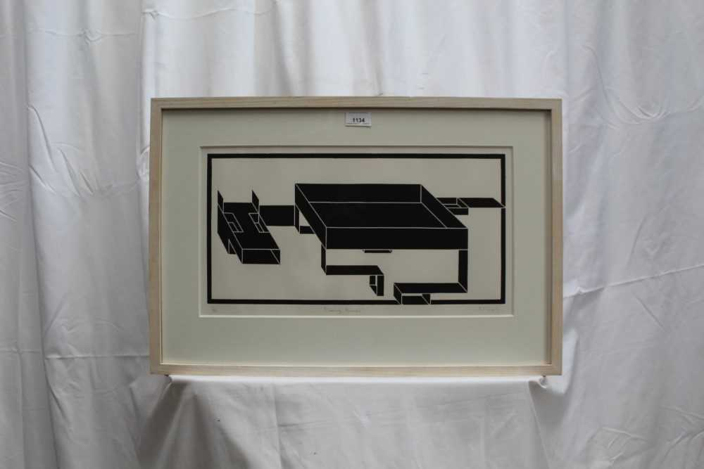 Ron Sims (1944-2014) signed limited edition linocut - Fleeing Animal, 1/50, dated '11, 25.5cm x 47.5 - Image 2 of 7