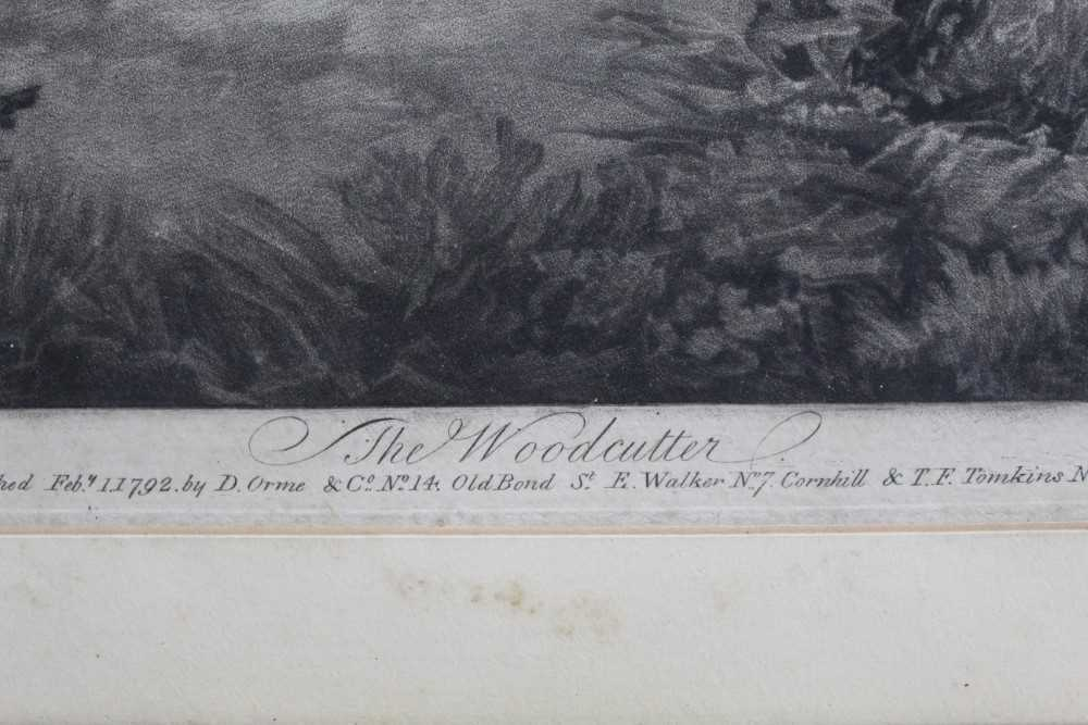Late 18th century mezzotint by W. Ward after George Morland - The Woodcutter, published 1792 by Orme - Image 3 of 10