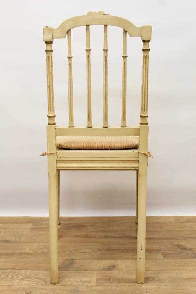 Late 19th / early 20th century French cream painted bergère suite - Image 11 of 16