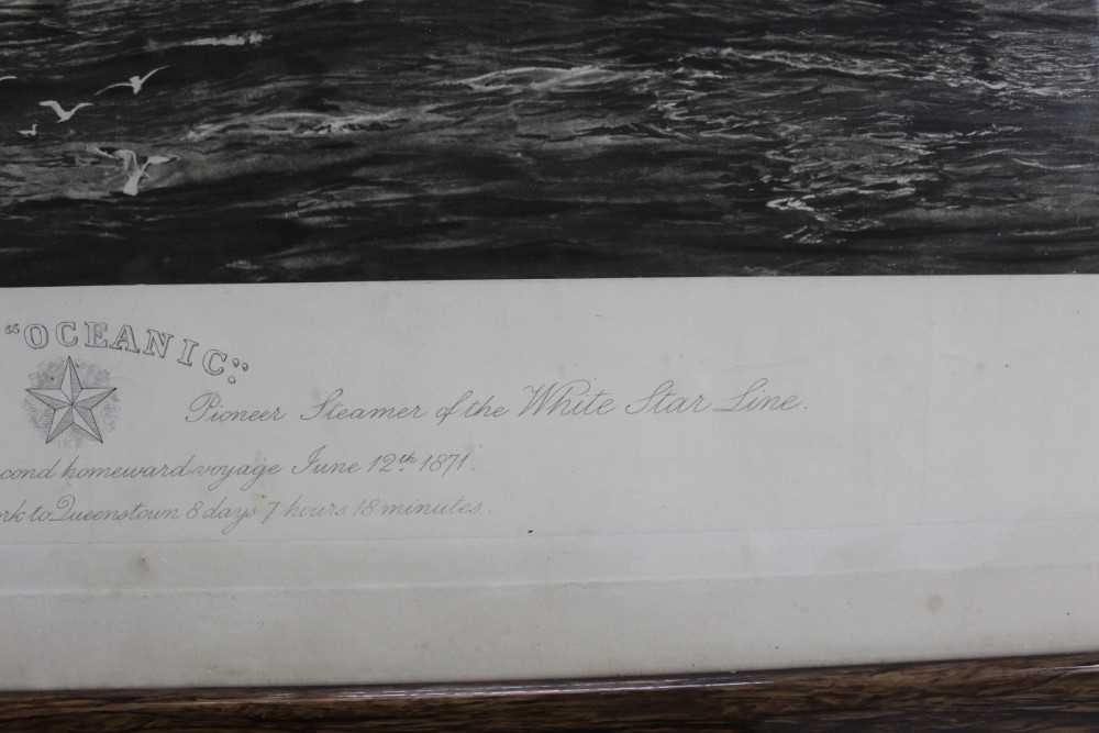 """William Lionel Wyllie (1851-1931) signed black and white engraving - White Star Line """"The Oceanic"""", - Image 7 of 15"""