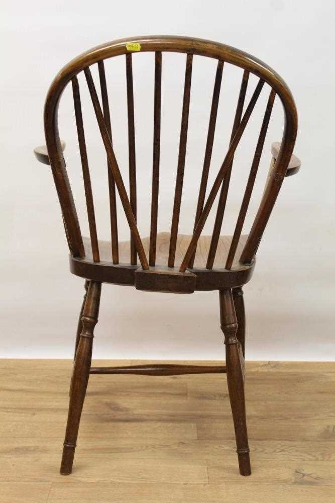 Mid 19th century elm and fruitwood stick back Windsor chair - Image 5 of 6