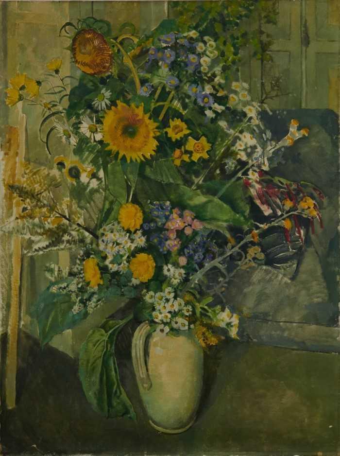"""Beryl Maud Sinclair (1901-1967) oil on canvas - """"An Essex Bouquet"""", unframed"""