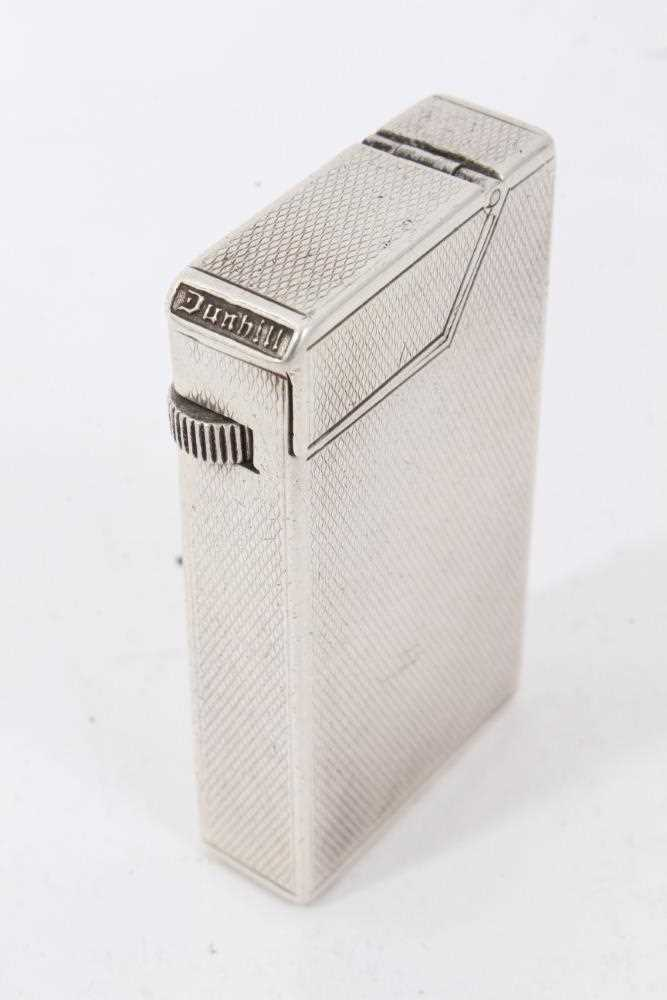 Late 1930s Dunhill silver petrol cigarette lighter (London 1939) Alfred Dunhill & Sons - Image 2 of 7