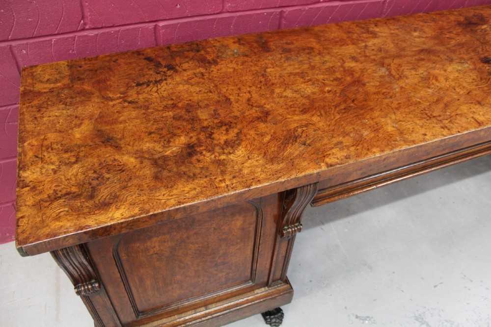 Very large late Regency pollard oak sideboard - Image 2 of 11