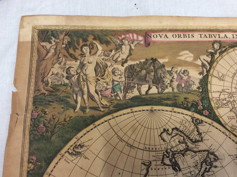 Frederick De Wit - Nova Orbis Tabula, in Lucem Edita, late 17th century hand coloured engraved map o - Image 2 of 11