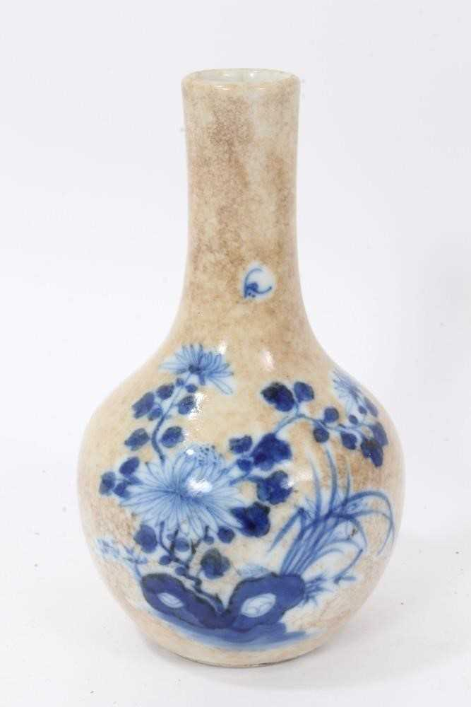 18th century Chinese caddy and cover two 19th century vases - Image 6 of 14