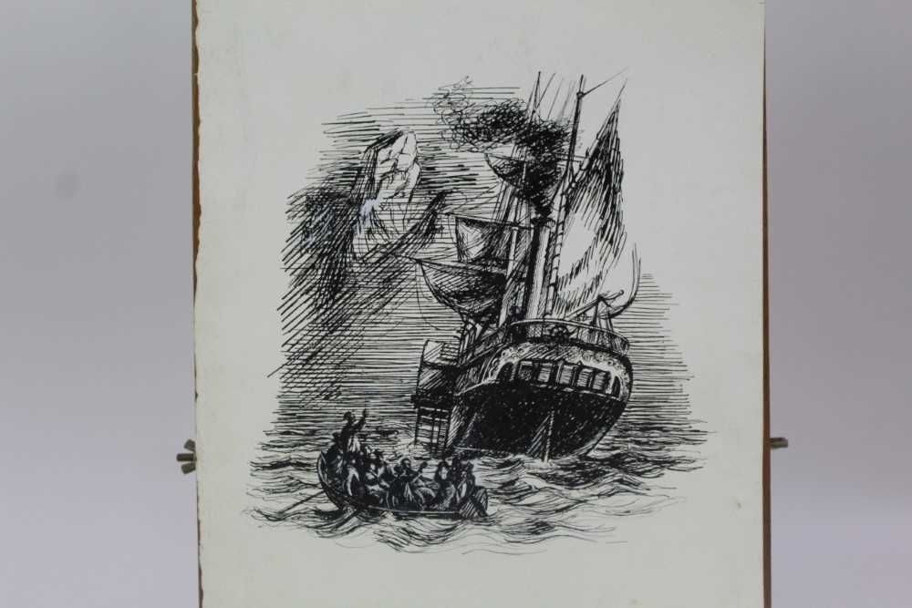 Phyllis Ginger (1907-2005) pen and ink drawing - The Paddle Steamer, unframed Provenance: Chris Be