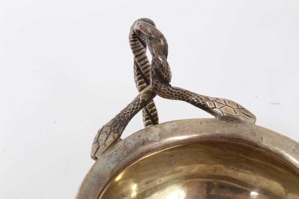 Georgian silver milk jug with intertwined serpent handle, and two others items - Image 7 of 8