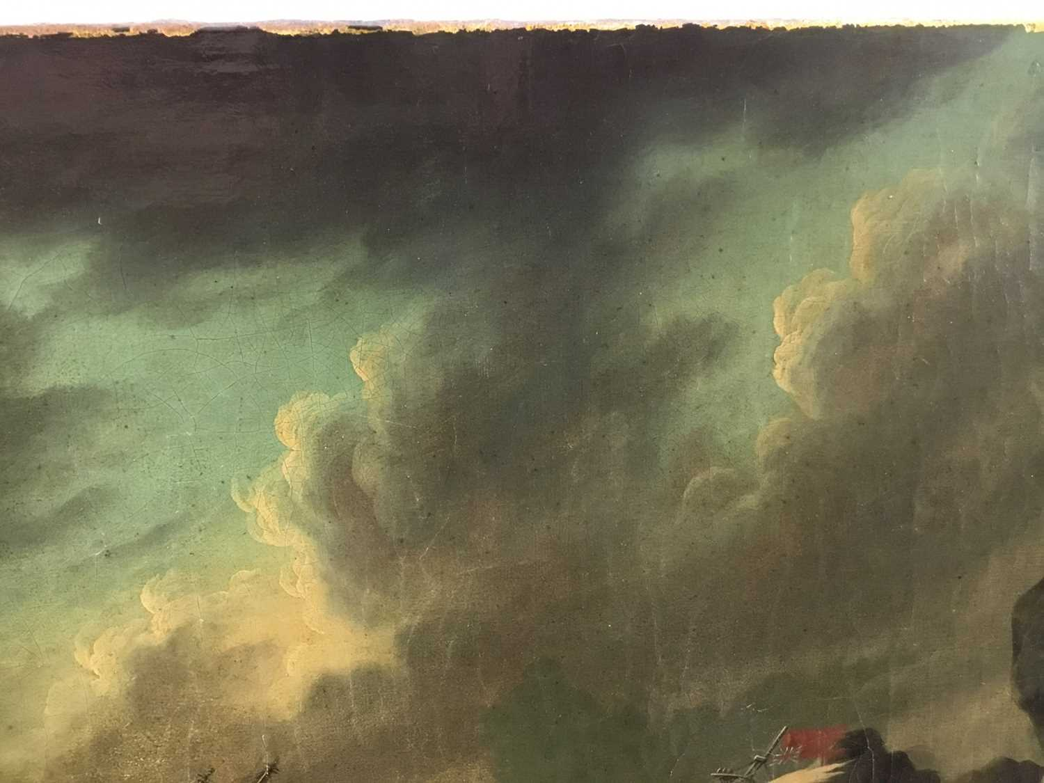 Attributed to Joseph Vernet (1714-1789) oil on canvas - shipping crashing against the rocks, 55cm x - Image 8 of 12