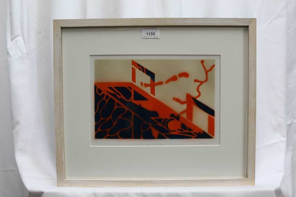 Ron Sims (1944-2014) signed limited edition stencil / enamel print - Orange Cat Streamers, 1/50, 20c - Image 2 of 7