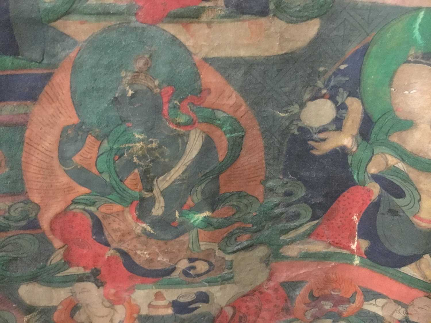 Early Tibetan thangka together with a related framed letter - Image 12 of 14