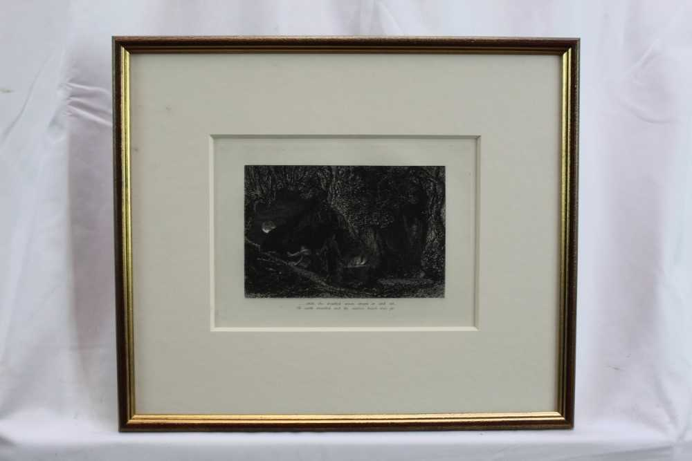 Samuel Palmer (1805-1881) pair of etchings - The Sepulchre and The Cypress Grove, in glazed gilt fra - Image 2 of 12