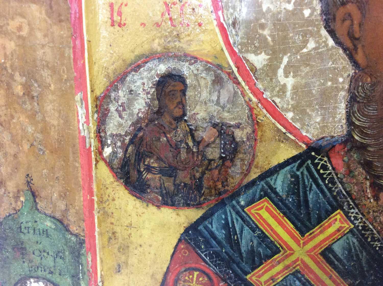 St Nicholas of Myra, 18th Century Russian polychrome painted Icon - Image 4 of 9