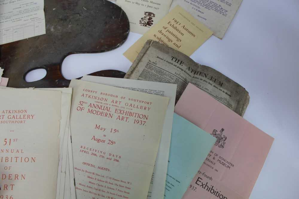 Lewis Taylor Gibb (1873-1945) wooden artists palette, together with assorted ephemera relating to th - Image 7 of 12
