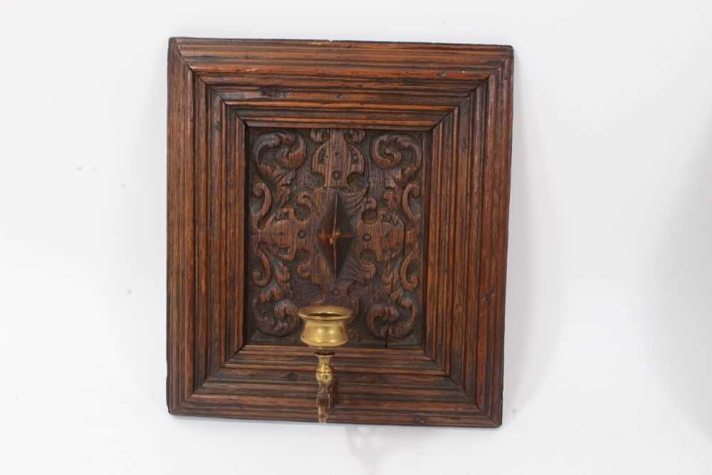 Collection of 17th century and later carved panels and furniture mounts - Image 5 of 9