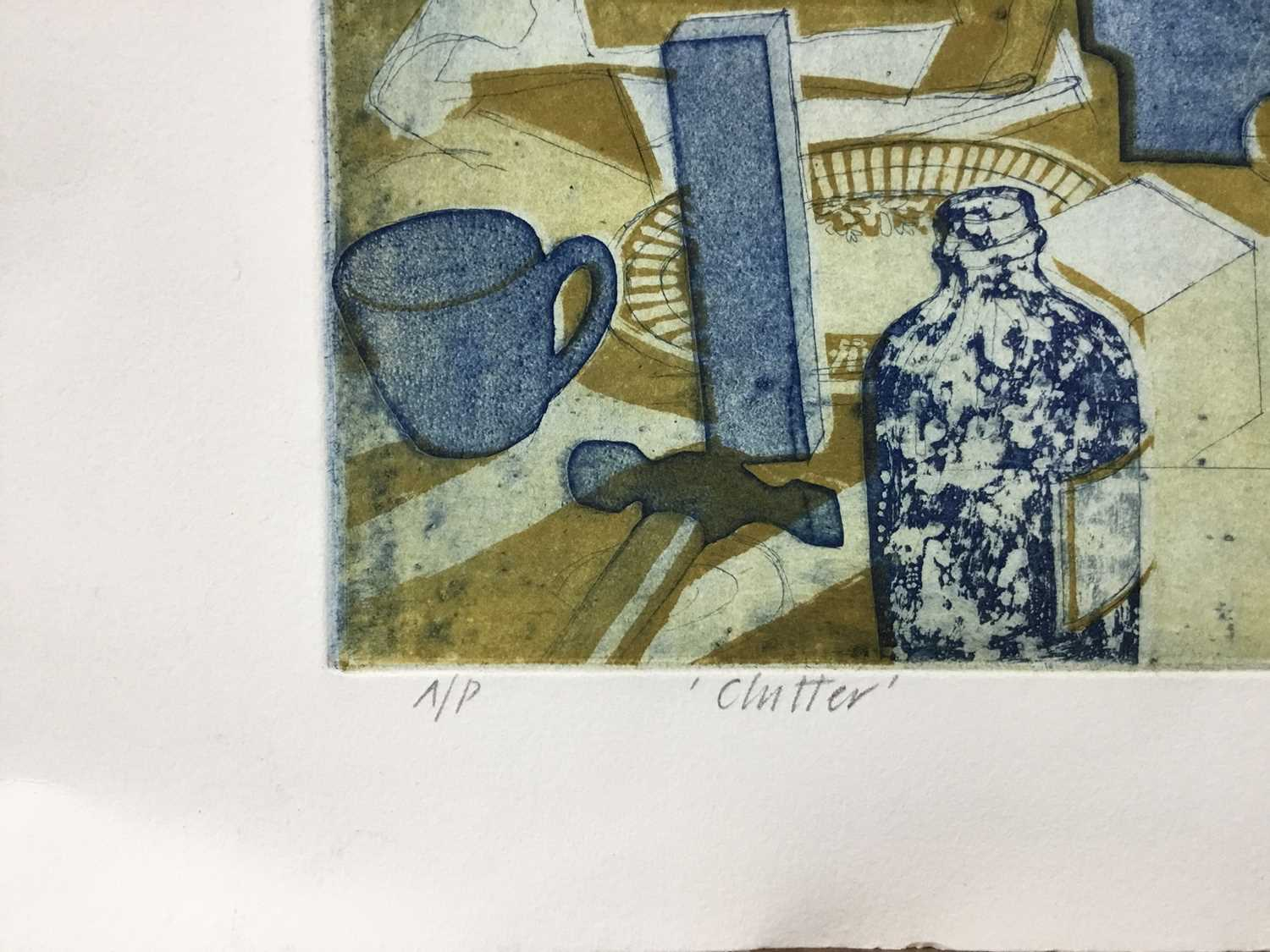 Richard Bawden (b. 1936) etching and aquatint in colours, Clutter, signed, artists proof, unframed. - Image 2 of 4