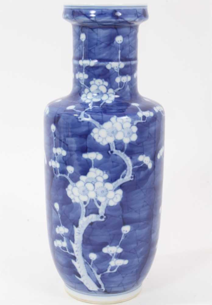 19th/20th century Chinese prunus blossom rouleau vase