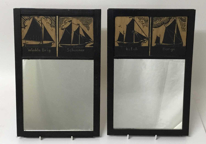 *James Dodds (b. 1957) pair of bespoke made wall mirrors