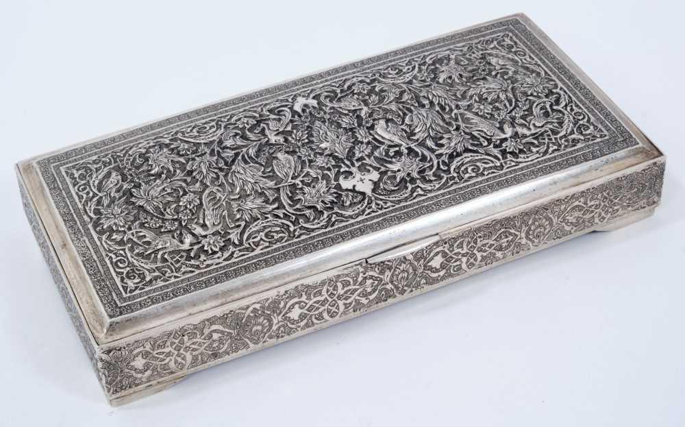 Iranian silver cigarette box.