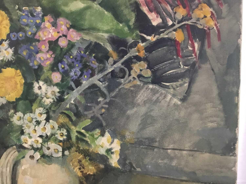 "Beryl Maud Sinclair (1901-1967) oil on canvas - ""An Essex Bouquet"", unframed - Image 7 of 8"