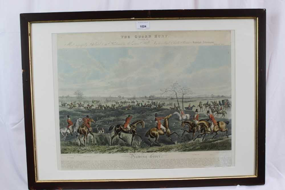 Henry Alken, five hand coloured engravings - The Quorn, in glazed frames - Image 2 of 19