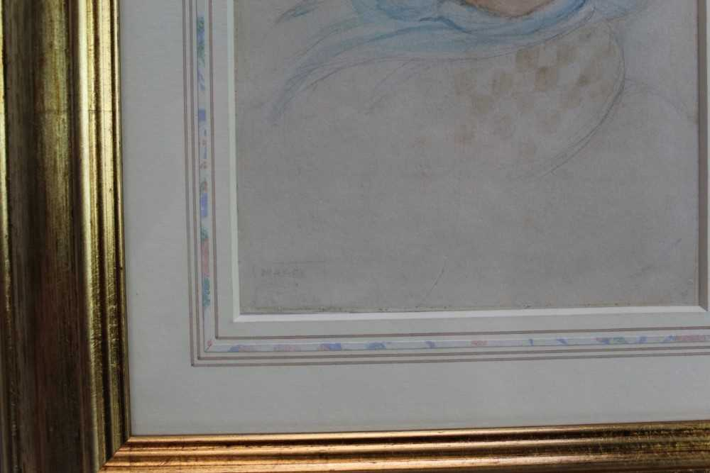 *Mabel Lucie Attwell (1879-1964) pencil and watercolour - The Blue Bonnet, signed, in glazed gilt fr - Image 3 of 6