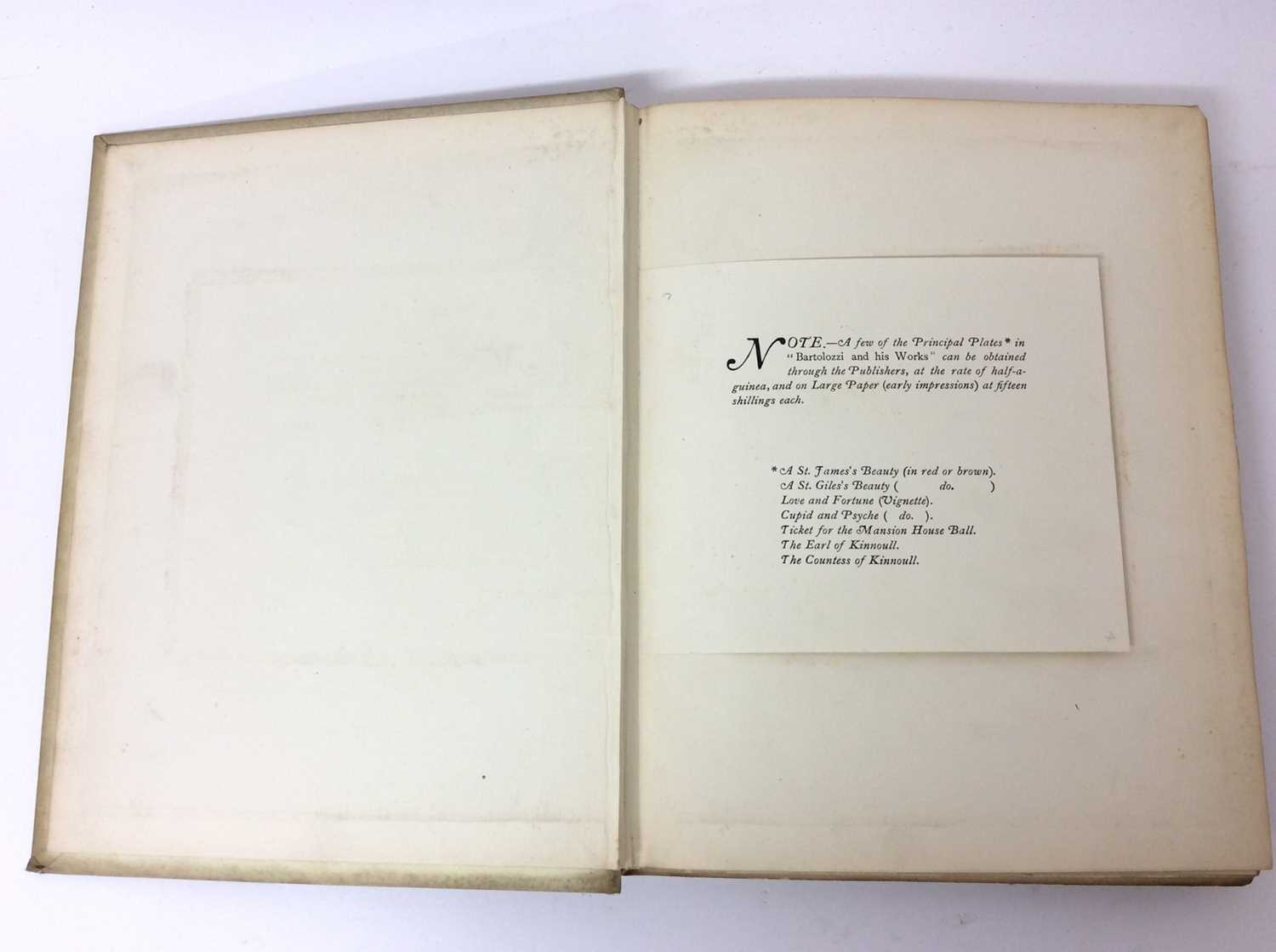 Andrew W. Tuer : Bartolozzi and his works, a biographical and descriptive account, in two volumes - Image 3 of 5