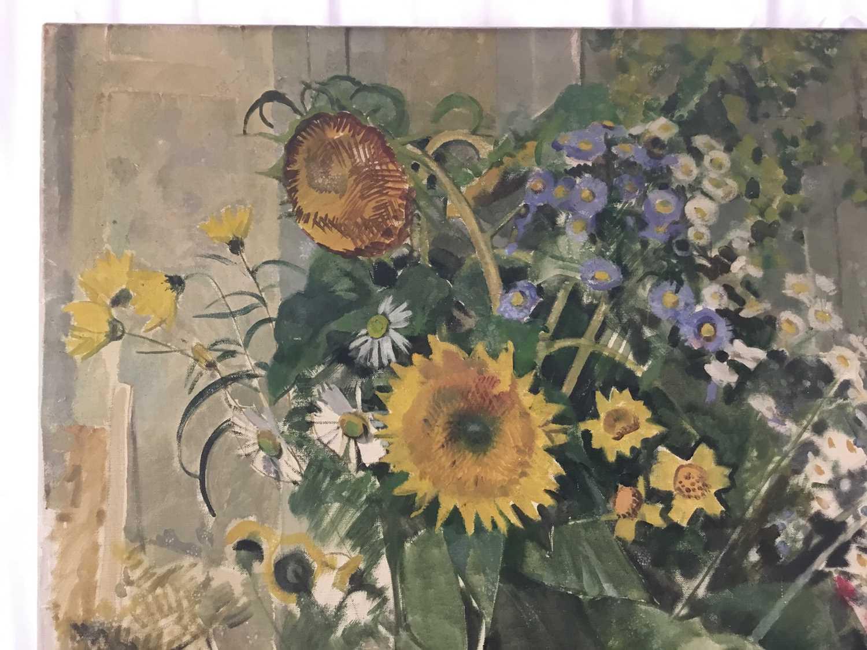"Beryl Maud Sinclair (1901-1967) oil on canvas - ""An Essex Bouquet"", unframed - Image 6 of 8"