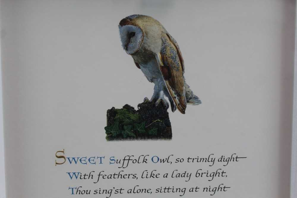 Denzil Reeves (1926-2008) coloured illumination 'Sweet Suffolk Owl' - Image 2 of 4