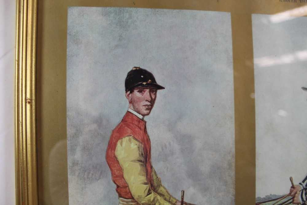 After Harry Hall, pair of coloured prints - Famous Jockeys, published by The Tryon Gallery, 57cm x 4 - Image 10 of 14