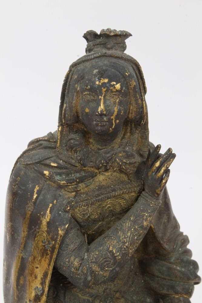 Mid 19th century ormolu figure of a woman - Image 3 of 4