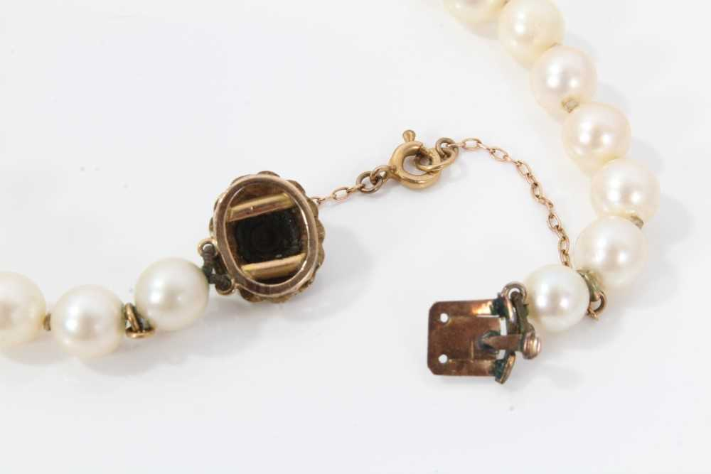 Cultured pearl necklace - Image 3 of 4