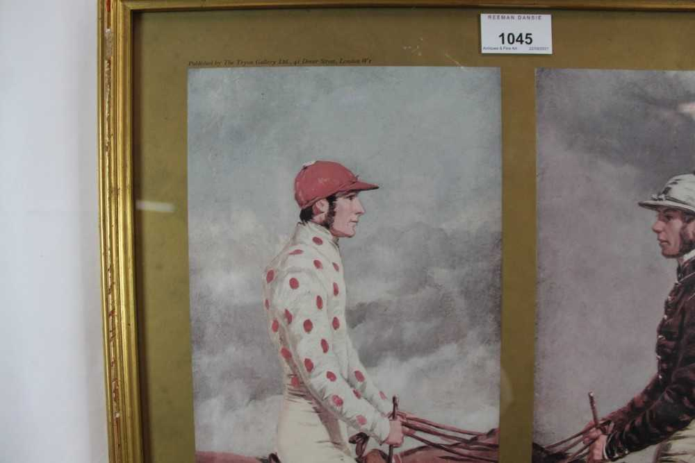 After Harry Hall, pair of coloured prints - Famous Jockeys, published by The Tryon Gallery, 57cm x 4 - Image 4 of 14