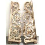 Pair of large cast iron brackets