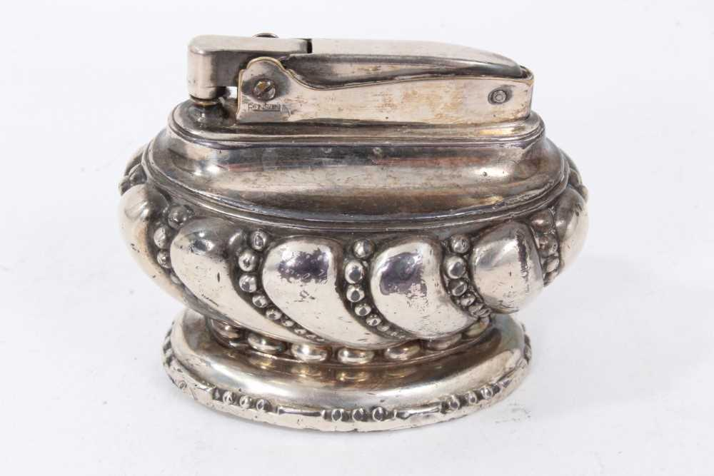 Late 1930s Dunhill silver petrol cigarette lighter (London 1939) Alfred Dunhill & Sons - Image 6 of 7