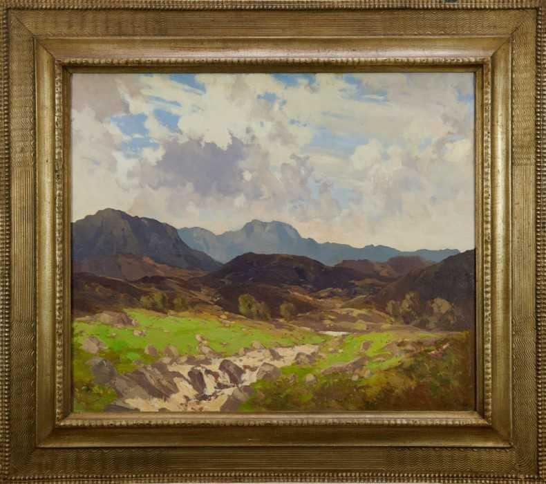 Lewis Taylor Gibb (1873-1945) oil on canvas - Extensive Scottish Landscape, signed, 63cm x 76cm, in